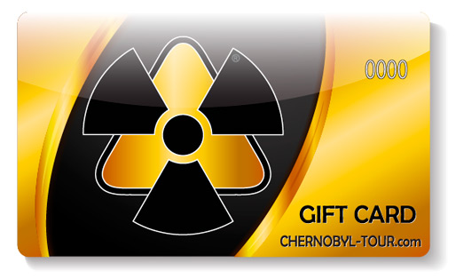 A gift certificate for a trip to Chernobyl Exclusion Zone Pripyat town